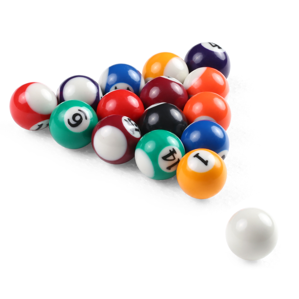 25MM / 32MM/38MM Children Billiards Table Balls Set Resin Small Pool Cue Balls Full Set 16 PCS Mini Billiard balls Set