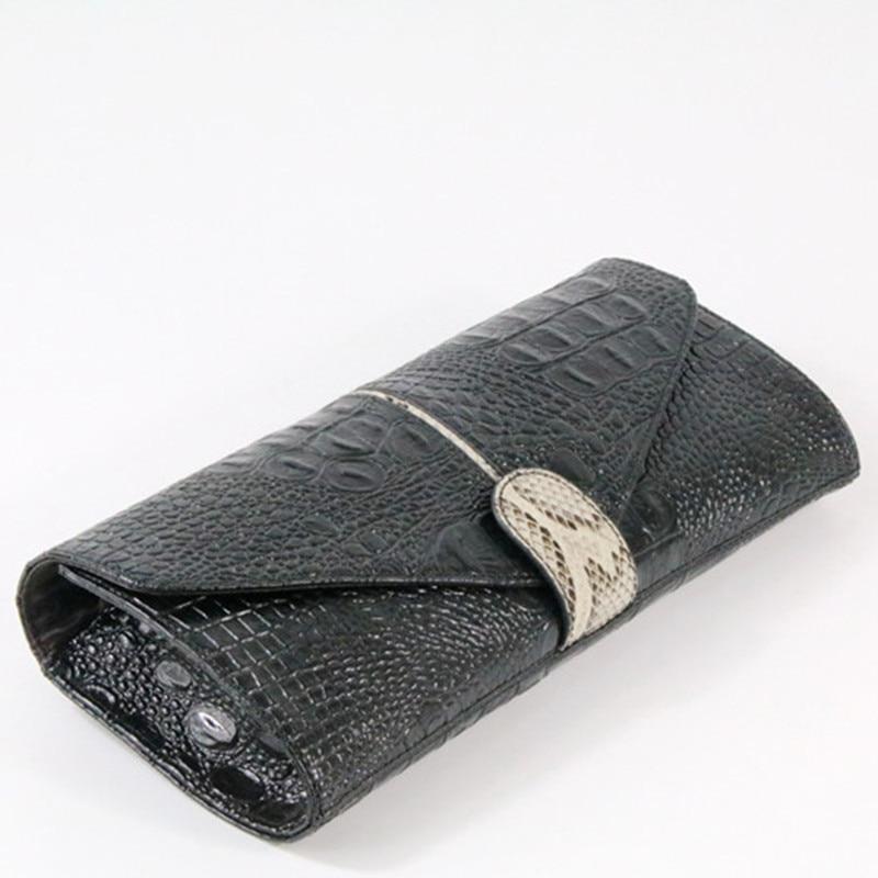 Genuine Leather Women Clutch Bag 2019 New Fashion Crocodile Female Evening Bag Chain Shoulder Bag Messenger Bag~9711(China)