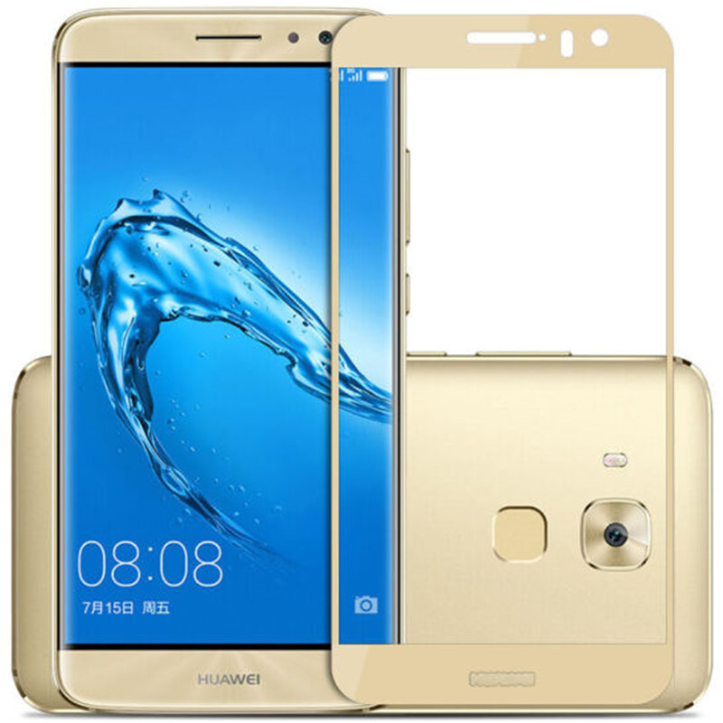 For Huawei Maimang 5 Maimang5 E199 G9 Plus MLA-AL10 Milan Screen Protector Protective Film Full Cover Color Gold Tempered Glass