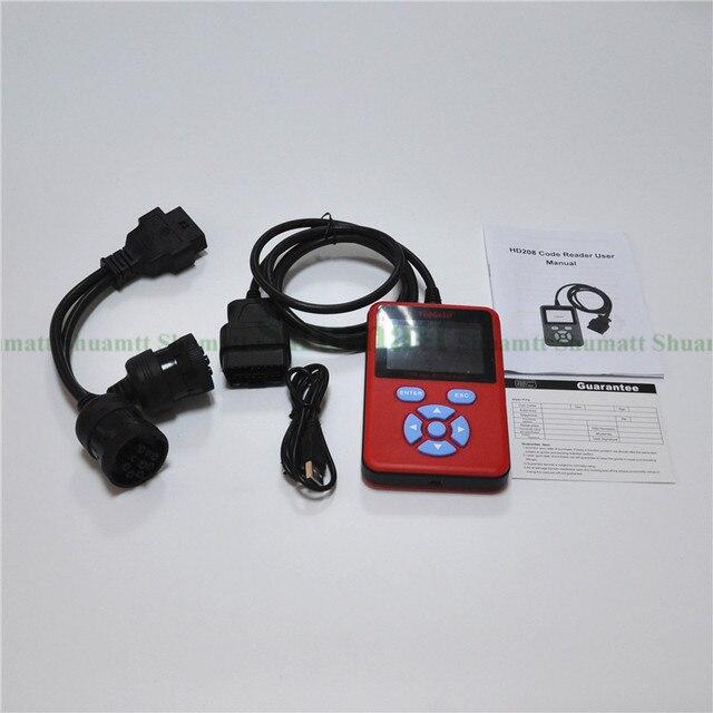 Горячие Продажи HD208 для Heavy Duty Code Reader Грузовик Диагностический Инструмент Совместимы С J1708 и J1939 Протоколы Обновление Онлайн DDS095