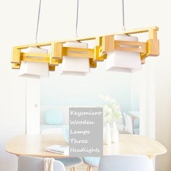 جديد الحديثة أضواء قلادة مصباح غرفة المعيشة غرفة الطعام الخشبية Lampadario Moderno بريقا قلادة الإضاءة Ac85-265v