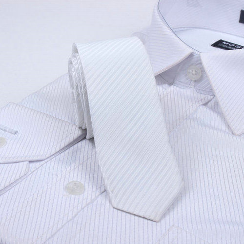 Free Shipping Cheap Slanting 5cm solid color stripe tie british style tie slanting stripe series white