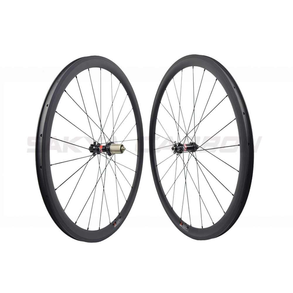 Frein à disque roues en carbone complet avec Novatec D411SB D412SB roues en carbone à disque de moyeu à traction droite 30mm 35mm 38mm 45mm 50mm 55mm 60mm
