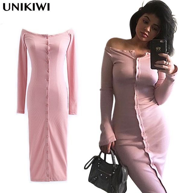 5ff6d5c0d85 Sexy Women Long Sleeve Off Shoulder Dress.Casual Lady Knitted Sweater  Dresses.Slim Bodycon Party Dress Clubwear.Vestidos.4 Color
