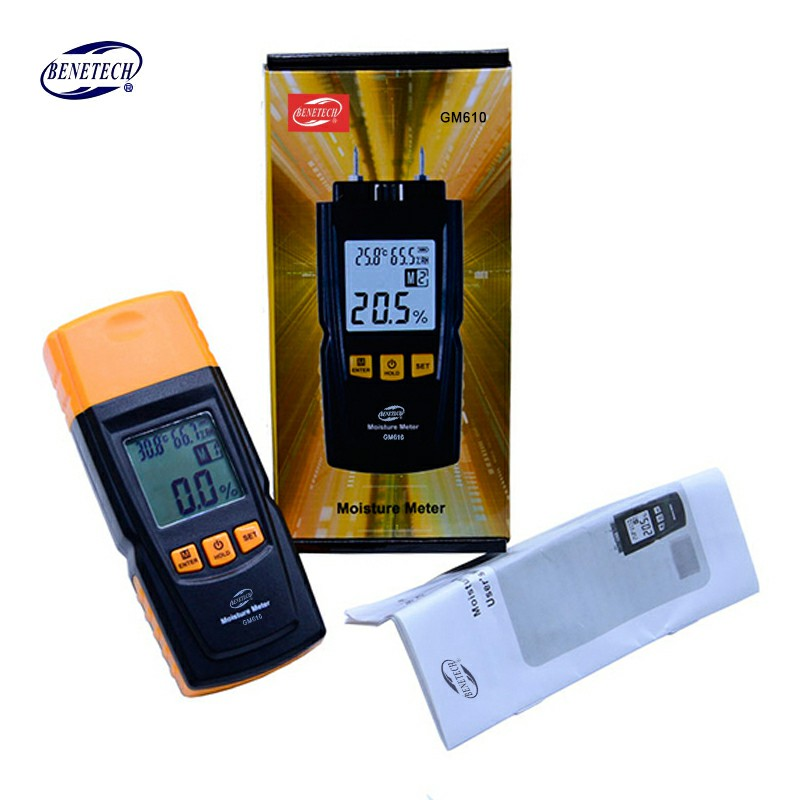 Digital LCD Wood Moisture Meter Humidity Tester Timber Damp Hygrometer 2Pins WST