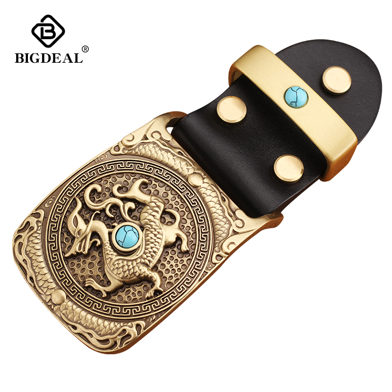 40mm Belt Buckle Men's Copper Clip Buckle DIY Leather Craft Freemason Masonic Jeans Accessories Supply For 3.8cm-3.9cm Wide Belt