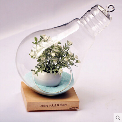 Bulbi In Vaso Di Vetro.Us 19 6 18 Di Sconto Creativo Forma Del Bulbo Desktop Appeso Vaso Di Fiori Vaso Di Vetro Alla Moda Famiglia Agire Il Ruolo Che Ofing E Avuto Un