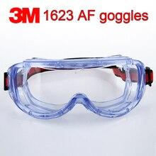 3M 1623AF protective glasses Big vision Chemistry safety goggles Anti fog Anti splashing work safety glasses