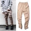 Khaki/negro/verde de corea del hip hop de moda los pantalones con conexión fábrica de cremalleras para hombre corredores hombres de ropa urbana