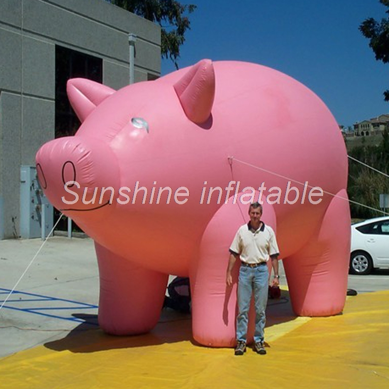 Customized giant inflatable pink pig,inflatable pig ...