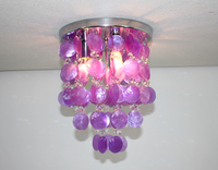 Crystal Fairy Shell Pendant Lamp Chandelier Lighting Ceiling Fixtures Light