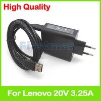 20V 3.25A 5.2V 2A USB AC Power Adapter for Lenovo Yoga 4 4S Pro Ultrabook tablet charger ADL65WLB 5A10G68674 5A10G68675 EU Plug