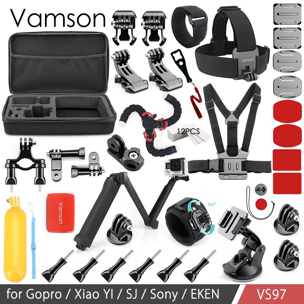 Vamson for Gopro Accessories Kit Set Hand Mount Large Bag Adapter for Gopro hero6 5 4 for yi 4K for Eken for SJCAM Camera VS97 wordperfect® for windowstm