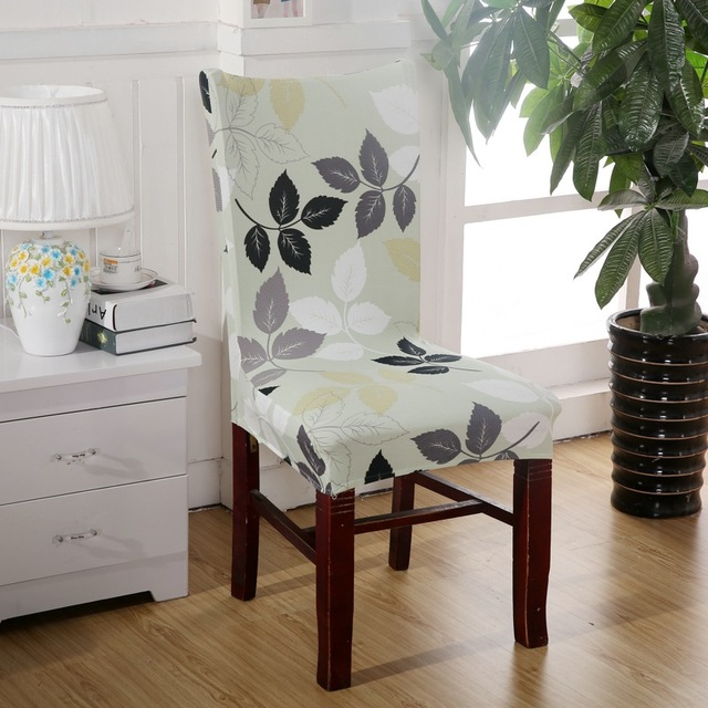 Cheap Dining Room Chair Covers: Green Leaf Chair Covers Cheap Jacquard Stretch Chair