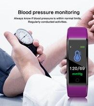 0,96 дюймовый цветной экран монитор сердечного ритма артериального давления умный Браслет Шагомер спортивный фитнес-браслет «Умные» часы Шагомер