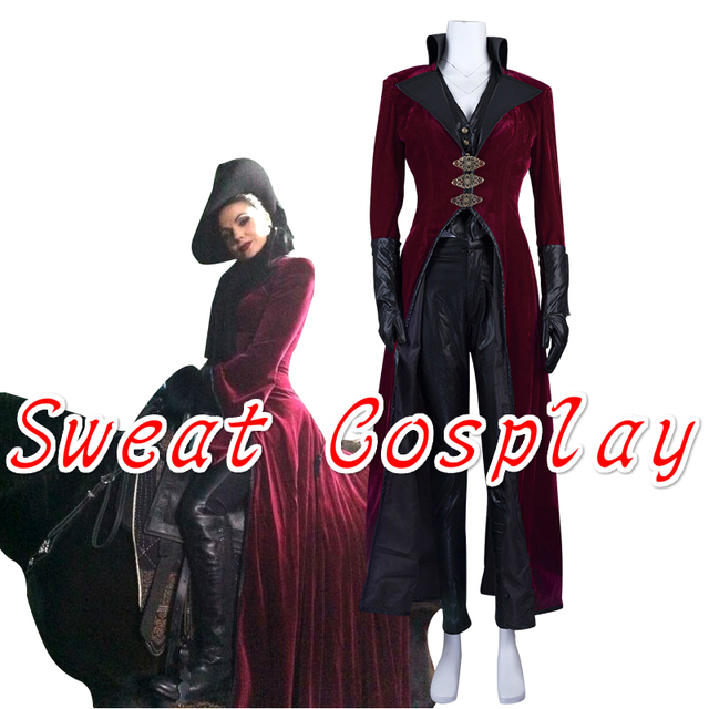 high quality once upon a time evil queen regina red cosplay costume women costumes for halloween
