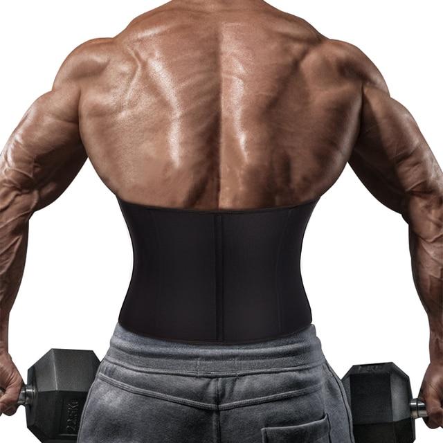 Junlan Waist Trainer for Men Neoprene Body Shaper Sweating Slimming Belt Reducing Sauna Shapewear Mens Tummy Trimmer Bodysuit 1