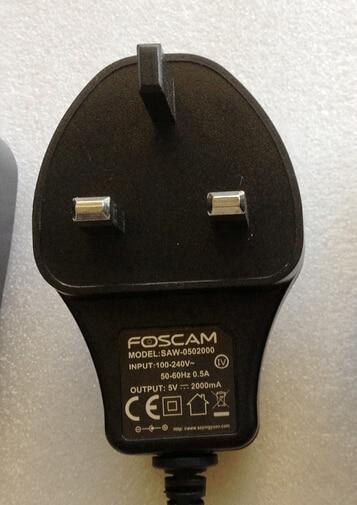 Foscam Converter Power-Adapter Uk-Plug Ip-Camera 2A 5V For FI8909W Fi9821p/Fi9831p/Fi9826p