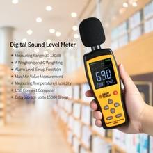 Digital Sound Level Meter Analyzer 30-130 dB Sound Decibel Meter 15000 Groups Data Record Download Analysis 2.7in LCD display sound meter level equipment se ar814