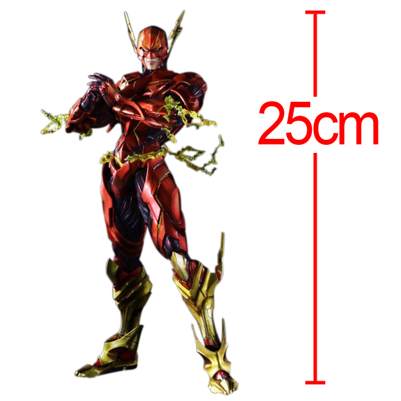 25cm Play Arts the Flash Spartans Figure Batman vs Superman Dawn of Justice Arkham PVC  Action Figures Collection Model Toy