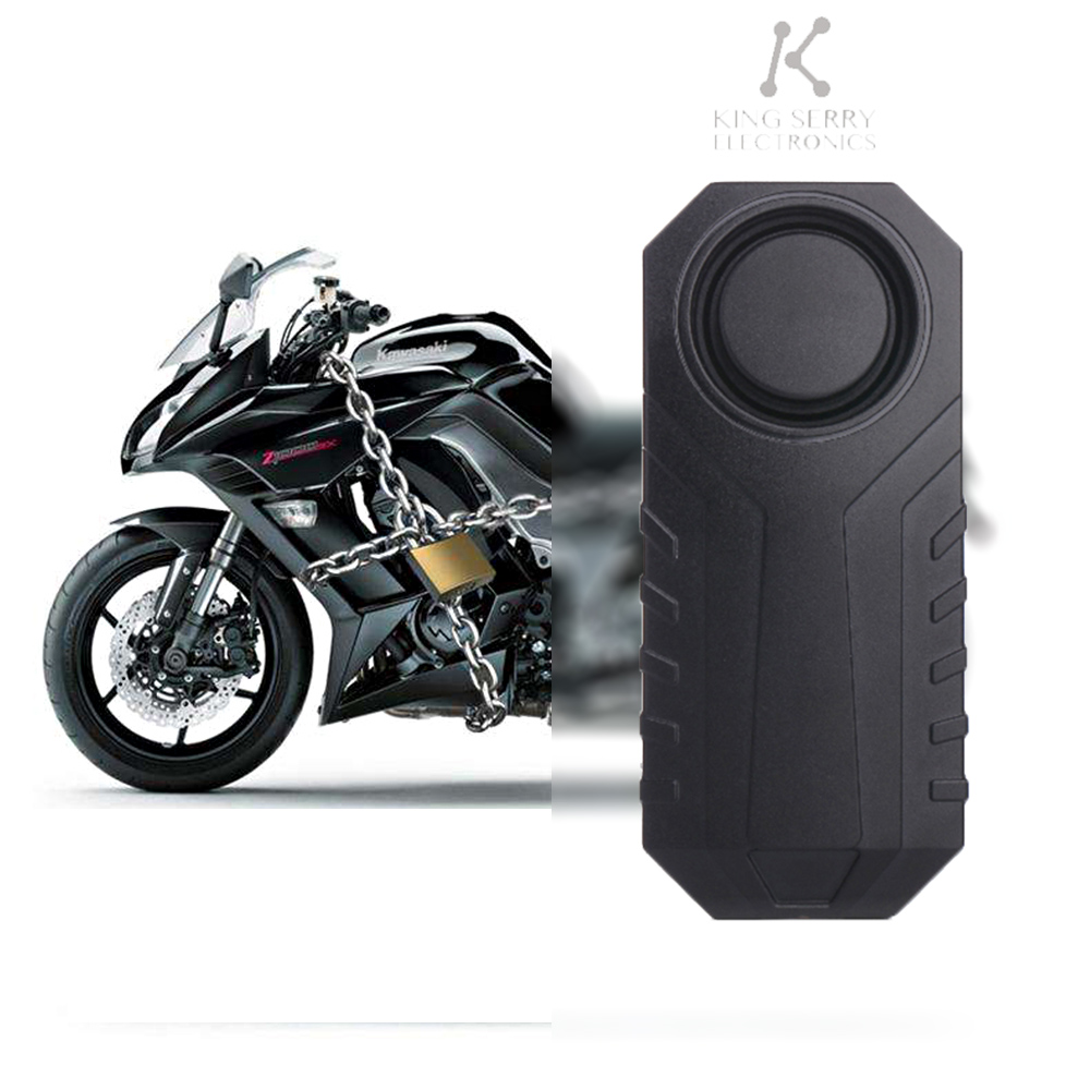 105dB Wireless Anti-Theft Vibration Motorcycle Bike Security Alarm With Remote