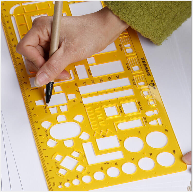 Trendy Drawing Template Ruler Geometry Shape Plastic Stencil Drafting Tools Interior Designin Rulers From Office U School Supplies On With Design