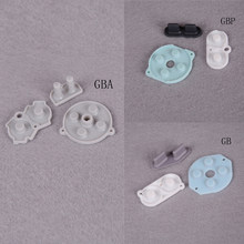 For Game Boy Color/Colour Button Silicone Rubber Pad Conductive A B Select Start Rubber Button For GB GBP GBA(China)