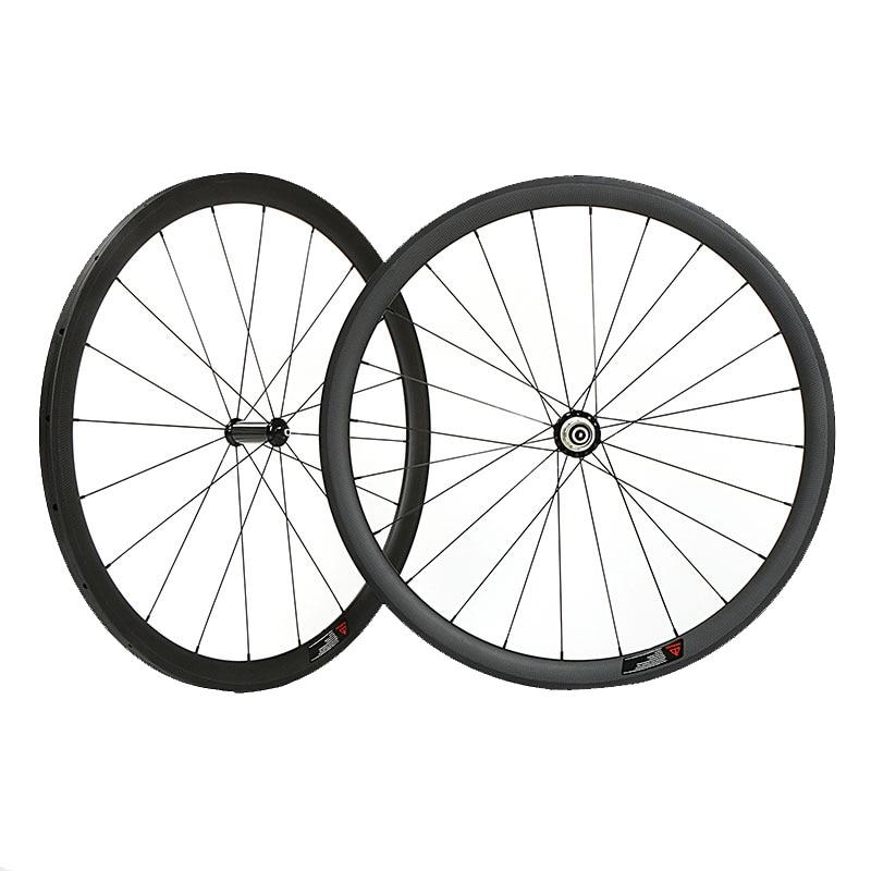 wide 23/25mm 38mm carbon clincher wheelset  700C road bike full carbon wheels 38mm bicycle wheels wheels 38mm carbon wheel 38mm carbon wheels - title=