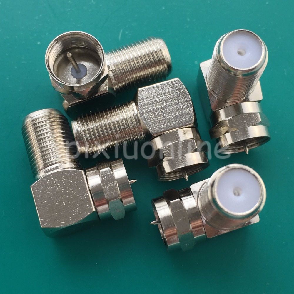 5pcs YT69Y F Type Coaxial Coax female jack Right Angle Male Adapter Free Shipping Cable TV cable connector Inch Sale at a Loss 5 pcs f type female jack to tv pal female plug coaxial rf connector adapter