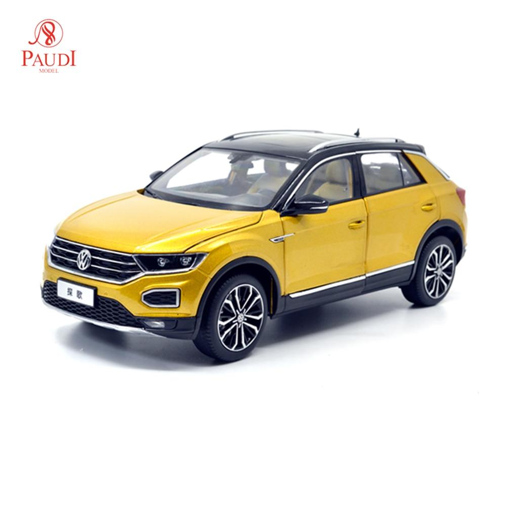 Paudi نموذج 1/18 1:18 مقياس VW فولكس واجن T Roc 2018 محدودة الذهب الأسود أعلى دييكاست نموذج سيارة لعبة نموذج سيارة الأبواب مفتوحة-في سيارات لعبة ومجسمات معدنية من الألعاب والهوايات على  مجموعة 1