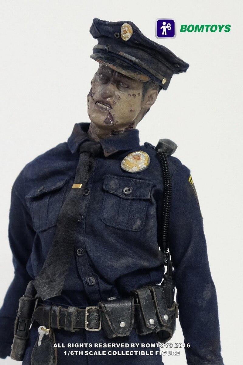 estartek bom toys bt003 1 6 walking dead police zombie collection action figure for halloween. Black Bedroom Furniture Sets. Home Design Ideas