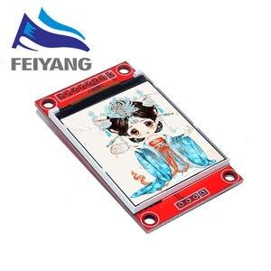 Image 1 - 10PCS 1.8 אינץ TFT LCD מודול LCD מסך מודול SPI סידורי 51 נהגים 4 IO נהג TFT רזולוציה 128*160 עבור Arduino