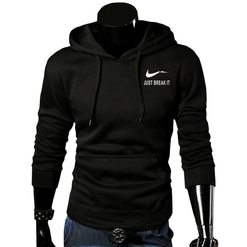 RUMEIAI új márka pulóver Férfi JUST BREAK IT kapucnis férfiak - Férfi ruházat