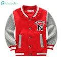 Grandwish primavera impresso jaqueta de algodão casacos de beisebol da escola para o menino meninas das crianças outono hoodies esportes para o miúdo 3 t-10 t, sc883