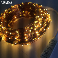 Remote Dimmer 50M 500 LED Lights Copper Wire String Light Outdoor Fairy Lamp For Garden Wedding