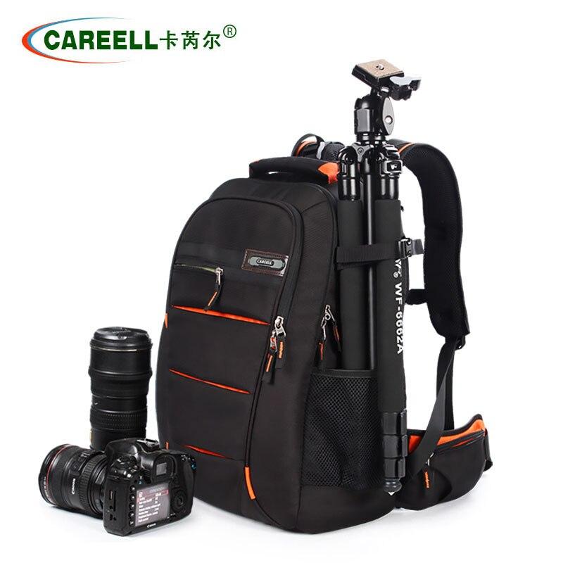 Envío rápido impermeable caja de la cámara para Canon Nikon cámaras ajustables mochila para viajar a prueba de explosiones