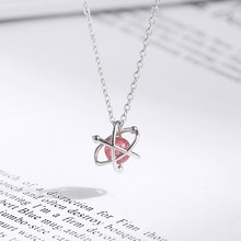 925 Sterling silver Pendant necklace Xinghai strawberry crystal The ballerina girl Wholesale womens fashion jewelry