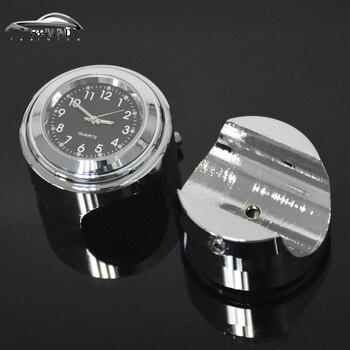 """Wodoodporna 7/8 """"Chrome kierownica motocykla zamontować zegarek kwarcowy dla Harley Davidson Honda Yamaha Suzuki Kawasaki 1 sztuk"""