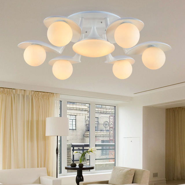 Modern Re Indoor Led Hanging Ceiling Lights Luminaires Lamp For Living Room Bedroom Lighting
