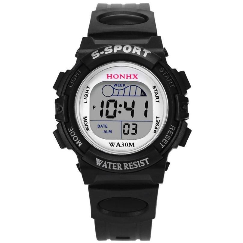 Waterproof Children Sport Watch Boy Digital Led Quartz Alarm Date Sports Wrist Watch Relogio Infantil Relogio Menino Hot Sale #2