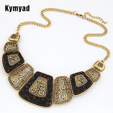 купить 2016 Collares Body Chain  Necklace Women Enamel Geometric Necklaces & Pendants Vintage Choker Statement Necklace Collier Femme дешево