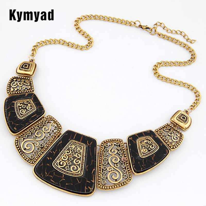 Kymyad Collares สร้อยคอผู้หญิงใหม่เรขาคณิตสร้อยคอจี้ Vintage Choker สร้อยคอ Collier Femme