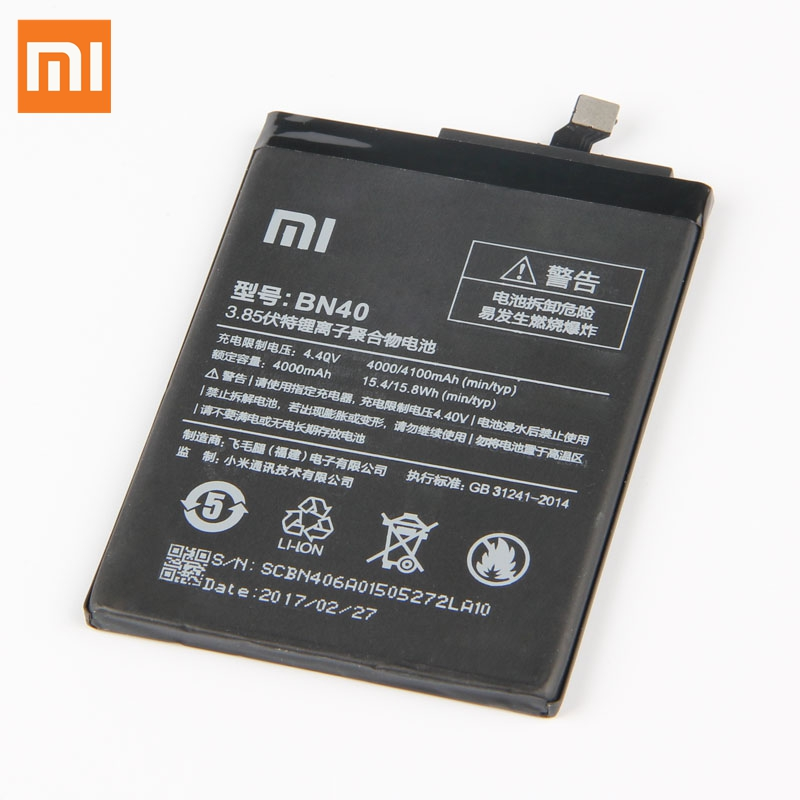 Xiao Mi Original Replacement Battery BN40 For Xiaomi Redmi 4 Pro Prime 3G RAM 32G ROM Edition Redrice 4 Hongmi 4 Battery 4100mAh