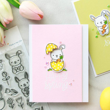 Spring Rabbit Clear Silicone Stamp DIY Scrapbooking Card Album Making Background Craft Handmade Decoration Template lovely unicorn clear silicone stamp diy scrapbooking card album making background craft handmade decoration template