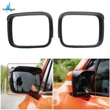 WISENGEAR Per Jeep Renegade 2015-2017 Auto Retrovisore Laterale specchio di Pioggia Sopracciglio Telaio di Copertura Shield Ombra Antipioggia Esterno Parte/