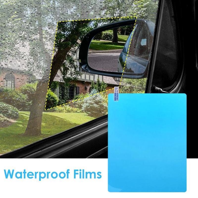 VODOOL 2Pcs Car Mirror Window Clear Film Car Motorbike Rearview Mirror Protective Film Waterproof Rainproof Anti Fog Car Sticker