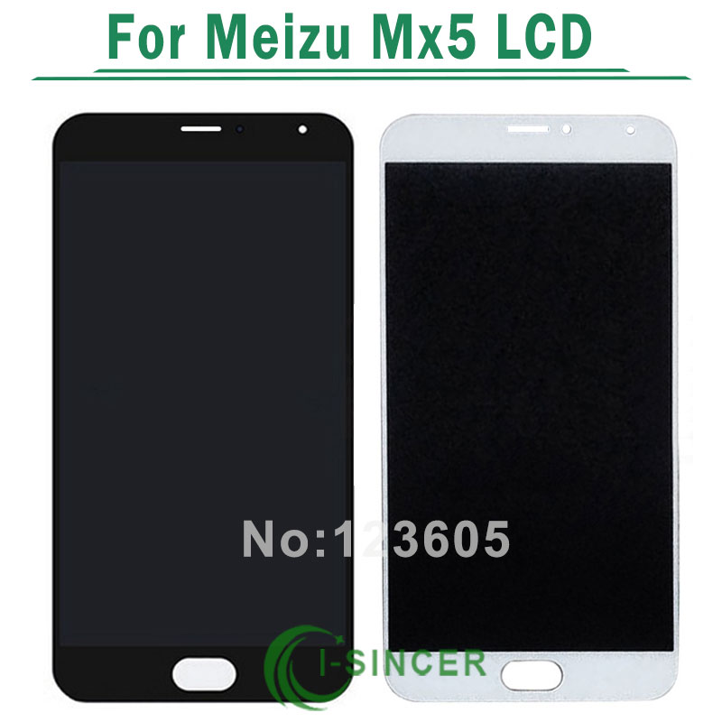 1/PCS Black White For MEIZU Mx5 Lcd display Touch screen digitizer glass Touch panel assembly Free Shipping