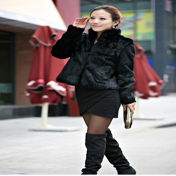 2018 new 100% rabbit hair short paragraph long sleeve lady coat winter women stand collar rabbit hair coat jacket can be customi