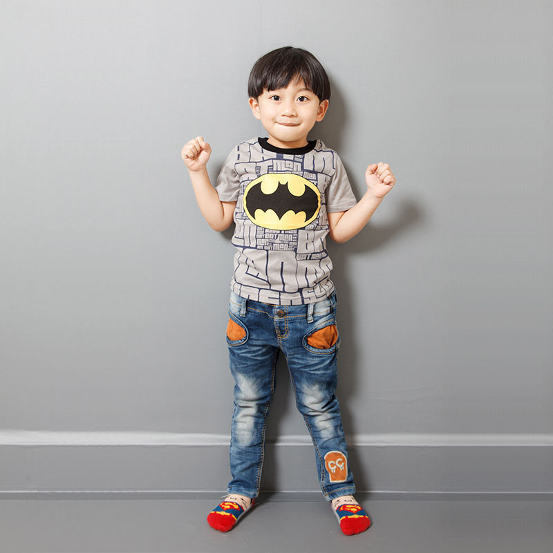 Fashion Toddler Kids Boys Batman Short Sleeves Tops T-shirt Casual Clothes 2-7T Batman Toddler Kids Boys Short Sleeve Cotton mens casual 3d personality skull printing short sleeve t shirt cotton sport black tees