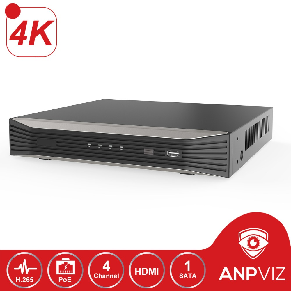 4K Resolution 4CH POE NVR Onvif  NVR3004 4K 4P 4 Channel Plug&Play Network Video Recorder H.265 4 POE Ports 1 ch HDMI Up to 8MP|Surveillance Video Recorder| |  - title=
